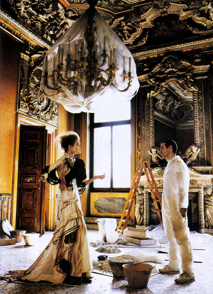 That's Amore | Vogue July 2005Natalia Vodianova by Mario Testino Comme des Garçons | Fall 2005 RTW