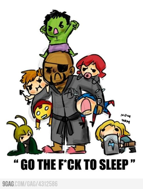(via 9GAG - Nick Fury babysitting The Avengers)