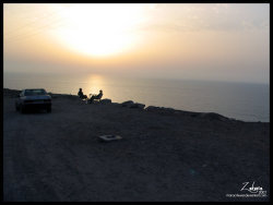 Sunset from SAfi - Morocco (2007)It's beautiful to watch the sunset resting on the edge of the cliff.