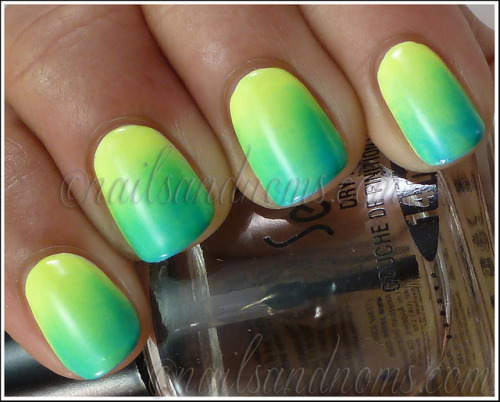 (via Guest Post for Northern Nails - Neon Gradient Nails!)
