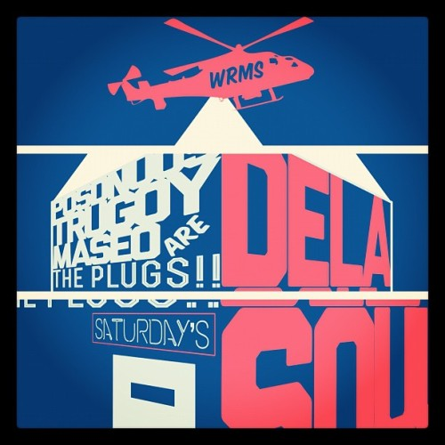DeLa Soul poster design #2 still needs work but I'm loving it illustrator #ftw  (Taken with instagram)