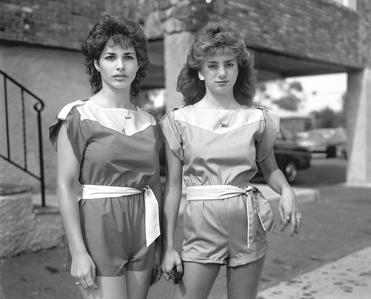 Two young women in matching outfits in front of an open air garage. In the early '80s Staten Island seemed like a world away from Manhattan. In Chrisitine Osinki's newly rediscoved photographs, she reveals a time capsule of the growing borough, caught in a state of limbo between New York City and the rest of America. With a new Kickstarter she hopes to publish a new book of the work. See more here.