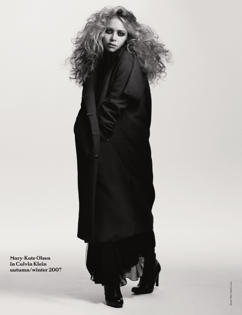 anothermag:  AnOther Magazine A/W09Mary-Kate Olsen, shot by Craig McDean, styled by Tabitha Simmons