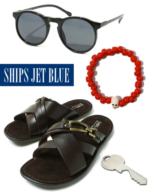 SHIPS JET BLUE With the recent heat wave hitting our city…we wanted to feature some accessories offered by SHIPS Jet Blue. Sunglasses to keep your eyes cool in the shade, sandals, bead bracelet with skull and the most important, bottle opener key for having a cold one in any bbq party.