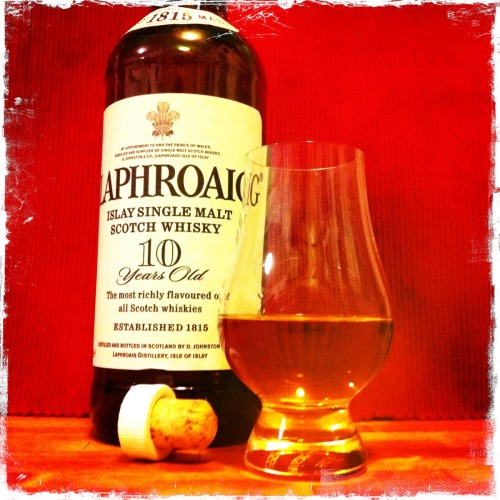thesociallubricant:  Laphroaig = 8/10 I just love the peat in this!