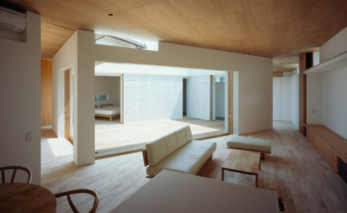F-White by Takuro Yamamoto Architects Inner courtyards are invaluable when gardens are not appropriate.