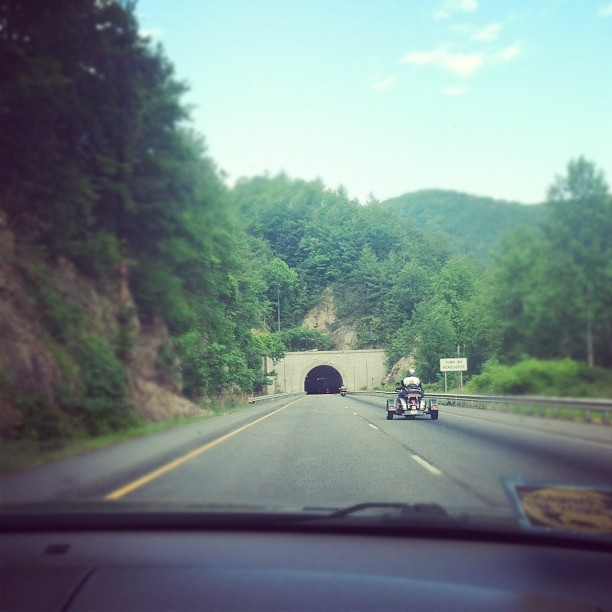 So, we've decided we *really* like tunnels. :) (Taken with Instagram at Smoky Mountains)