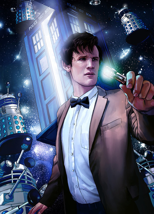Bow Ties are cool. Doctor Who illustrated by Owen Freeman :: via 24houremergency.blogspot.ca