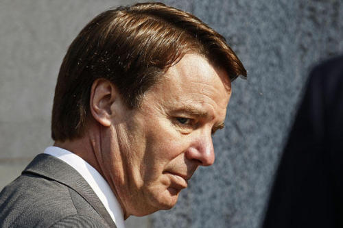 "Today in ongoing tension: Jurors in the John Edwards campaign finance trial will deliberate for a seventh day, amid word of ""juror issues"" affecting the decision-making in the case. Edwards could face prison time depending on how they decide. (photo by Gerry Broome/AP)"