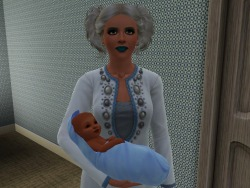 Starla's bestie, Carina, had a boy and named him Ti-Ning (EA name, not mine, LOL).