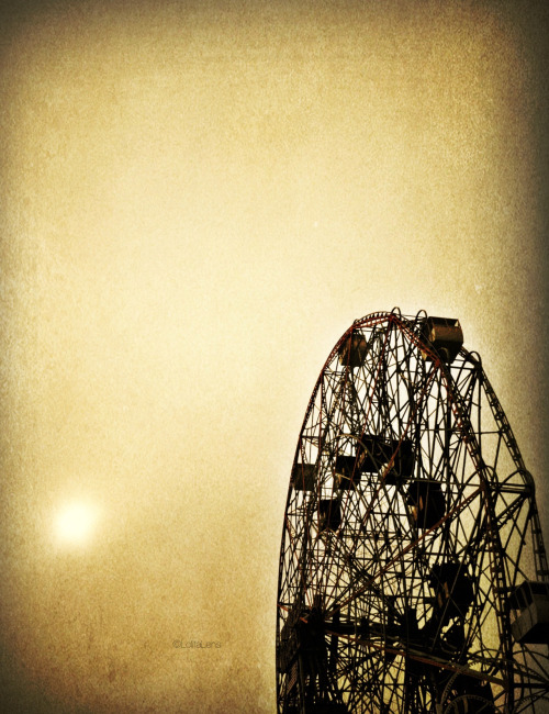 """I see nothing in space as promising as the view from a ferris wheel.""  — E.B. White  Coney Island, Brooklyn NYC"