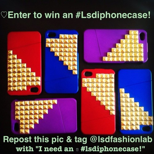 "It's not too late 🇺🇸! We're giving away #lsdiphonecase to 4 lucky winners! All you have to do is repost and instagram this photo, tag us w/ the caption ""@lsdfashionlab, I need an #lsdiphonecase!"". Contest ends Today at 11:59pm. Good luck! #lsdfashionlab #contest #mdw #memorialday #sweepstakes #win #free #losangeles #la #california #iphonecase #iphonecover #studs #studded #ootd #studdediphone #accessories #dope  #freebie  (Taken with Instagram at www.lsdfashionlab.com)"