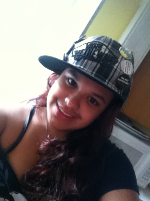 My friend with a Vans Off The Wall Hat. Isn't she so fly