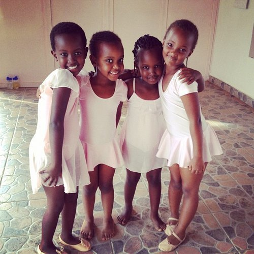 Young girls from Rwanda