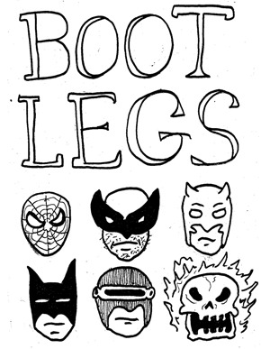 i drew various mini-mini-comics of bootlegged versions of super hero's in 2008 while finishing up my senior year of college. it was kind of a response and opposite of everything my teachers wanted me to do. just badly drawn, largely offensive, jokes with drugs, sex, and alcohol. needless to say my teachers thought they were terrible, but i kept making 100's of copies of each and handed them out anonymously and for free throughout philadelphia. i collected them into one comic in the fall of 2008. it was the first mini comic i made that i released under the title 'yeah dude comics', thus beginning my 'professional' career. with a print run of over 250, it was my first 'big seller', its been out of print for over a year, here it is in its entirety.