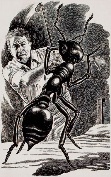 notpulpcovers:  The Large Ant Virgil Finlay