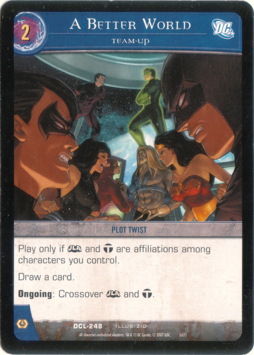 Found an old illustration I did for DC Legends Versus System card game - a JLA and Teen Titans crossover! [Link] circa 2007