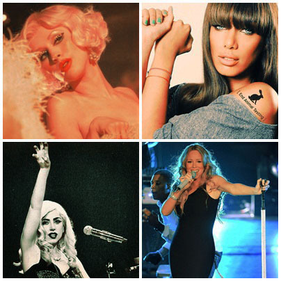 soaraguilera:  My Favorite Single !!!! Love You ♥  Xtina,Mariah,Leona,Gaga