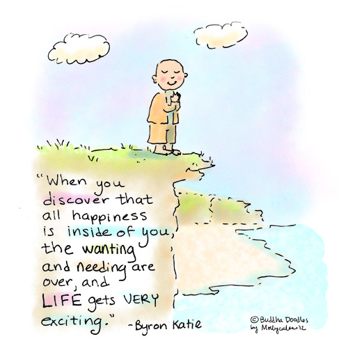 "buddhadoodles:  Today's Buddha Doodle - ""Happiness"" by Mollycules"