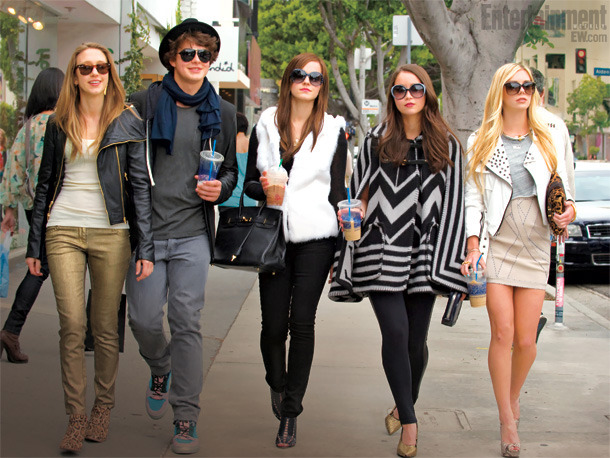The Bling Ring.  CAN'T WAIT. entertainmentweekly:  Hermione is going glam — and dabbling in grand larceny. Yes, that's Emma Watson (center) and four costars in our first look at The Bling Ring, Sofia Coppola's drama about the real-life, fame-obsessed thieves who allegedly stole from the homes of celebs like Paris Hilton, Lindsay Lohan, and The Hills' Audrina Patridge. What do you think of the Harry Potter star's transformation?