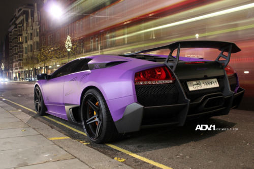 theragingbull:  Matte purple Lamborghini Murcielago LP670-4 SV on ADV10DC wheels