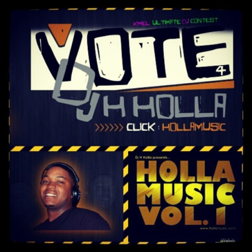 Vote for my homie once a day!!!!! @djhholla  (Taken with instagram)