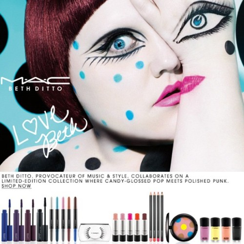The MAC Beth Ditto collection is now available for PRO purchase! What are you getting? (Taken with instagram)