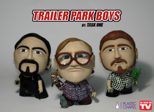 "Trailer Park Boys Munnys created by TaskOne for his art show titled ""As Seen On TV"""