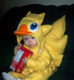 Chocobo Baby from Final Fantasy Series Okay, I'm in a baby mood, so I'm just going to post adorable kid stuff today! This is just too cute for words :) I want to get this for my kid when I have one! PART OF COSPLAY TUESDAY!