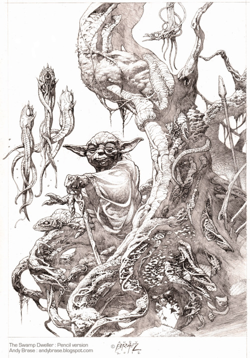 clardyparty:  Swamp Dweller- pencil by *andybrase