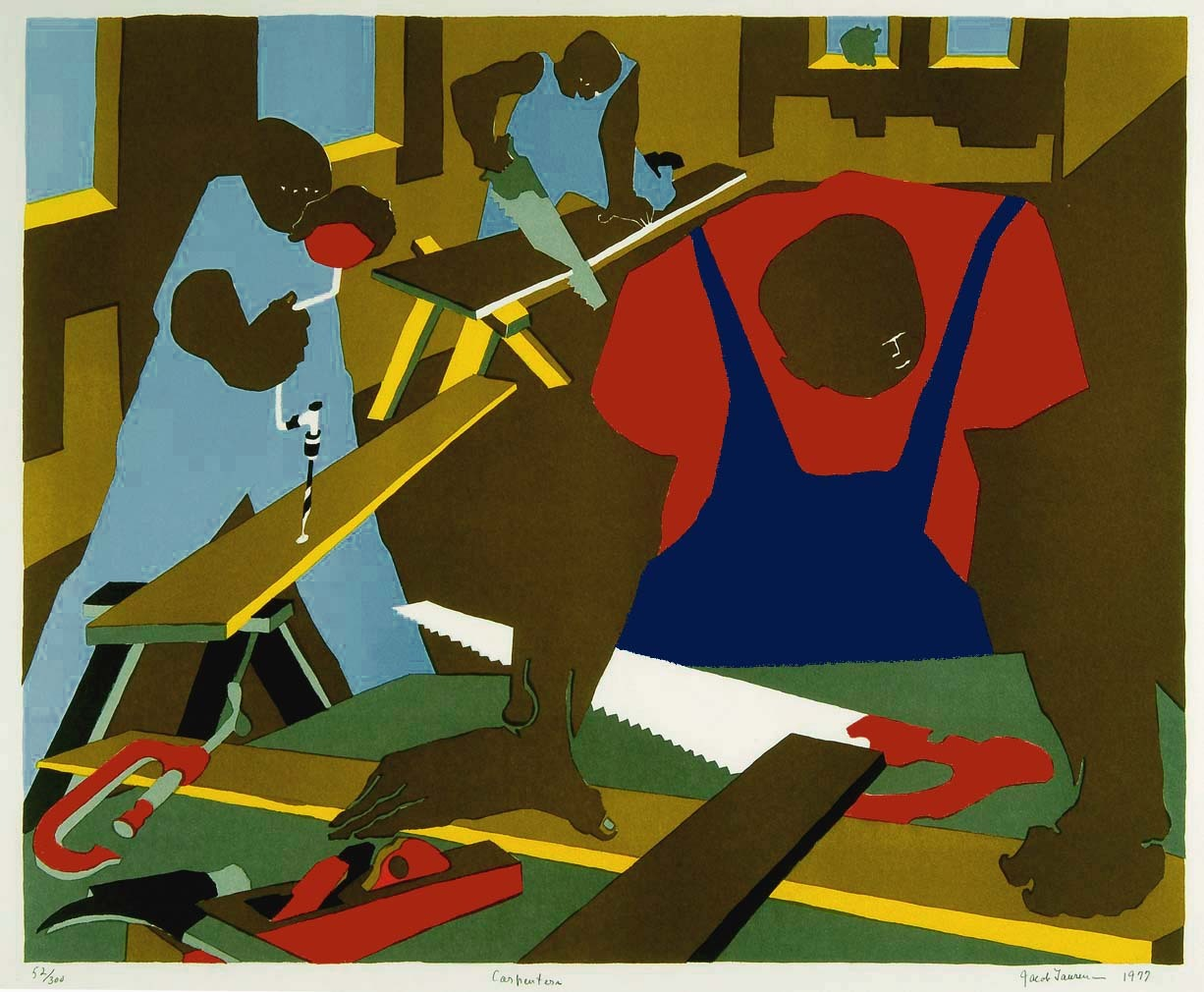 Carpenters (1977) | Jacob Lawrence