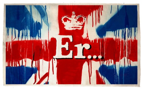 picturesonwalls:  Banksy Er.. Flag      Download and print out