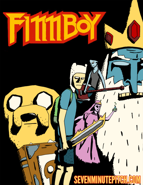 adventuretime:  Mash-up Monday on a WTF Wednesday. sevenminutepitch:  Double fan art combo.Adventure Time a la Mike Mignola's Hellboy.New update of The Night Off coming tomorrow, so stay tuned!