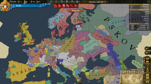 This is exactly how Europe looked in 1601, right? In reality, Scotland and Münster are strong as fuck. France was pretty complete until 1580, when they completely collapsed inward. I love this game.