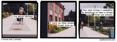 softerworld:  A Softer World: 820 (tune in tonight for NO LAW & NO ORDER)