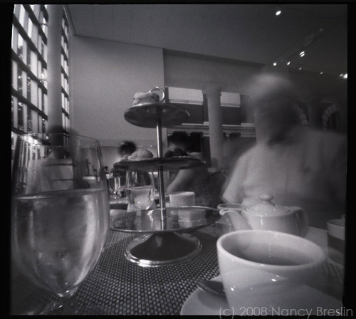 6-14-08.  Tea at the Metropolitan Museum of Art, NYC.  2 minute pinhole exposure.