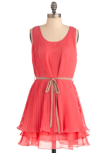 modcloth:  Shop the Pleats Be Mine Dress in Pink.