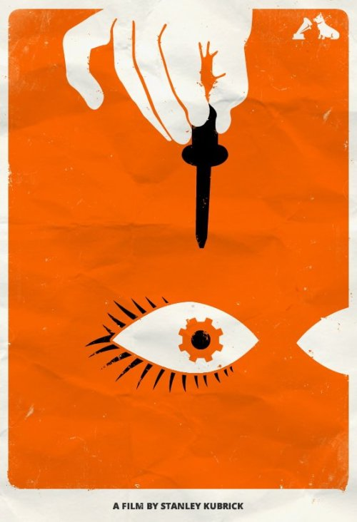 A Clockwork Orange - hmv Minimalist Film Poster To celebrate the Top 10 films - voted for by you - in the hmv Jubilee poll, our friends at MMK Media have created these minimalist posters featuring iconic images from each movie. We'll be posting two a day, each day this week. Here's one of our personal favourites from the set, celebrating the #5 Film in our list, Stanley Kubrick's A Clockwork Orange. What do you think? Is this your favourite so far?