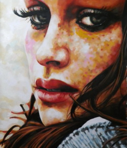thomassaliot:  Close up freckels just finished 115/140cm Oil on canvas