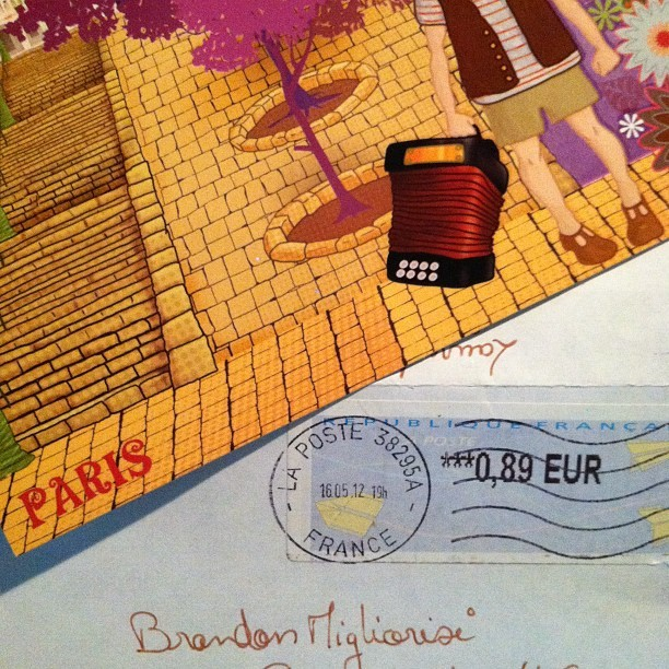 A #postcard from #Paris #France for me!  😃📩📫📮📝 THANK YOU @laurentiab !!! (Taken with instagram)
