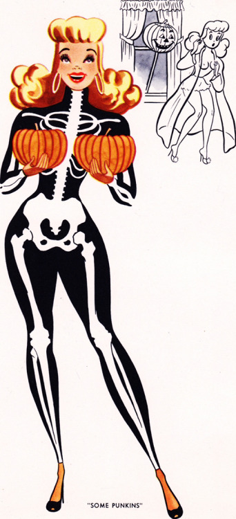 "nicolegnn:  voodooplex:  insanitiki: vintagegal: ""Some Punkins"" c. 1950's  Love this :)"