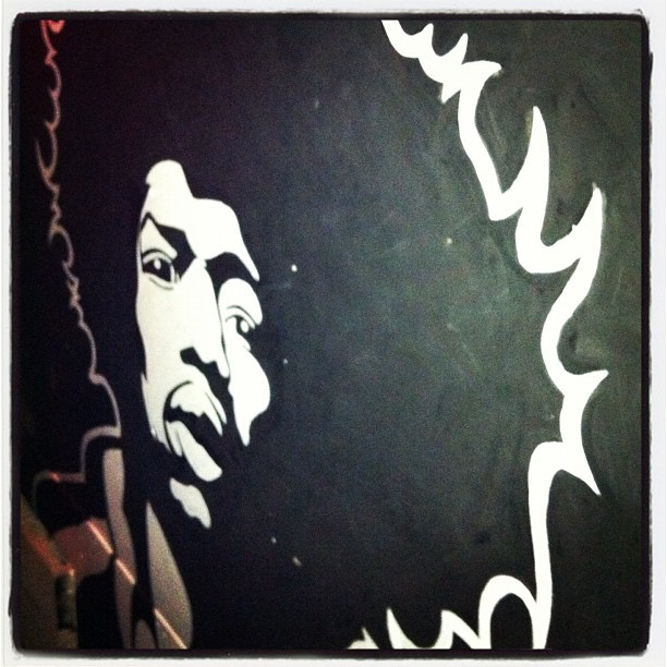 #jimihendrix #art 🎸🌀⚡  (Taken with Instagram at Tammany Hall)