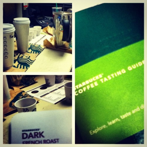Coffee and food tasting day today at work! Trying everything in the store! It's bittersweet  (Taken with instagram)