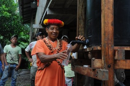 good:  Amazonian Tribes Try Harvesting Rainwater After Oil Drilling Polluted Their Water While lawyers fight in international courts for oil companies to pay up, the people in the Lago Agria area are living in one of the most polluted pieces of land on the planet. Oil is still being extracted from the area; some locals work for the industry. But a new project is ensuring that these communities will have access to clean water, despite the pollution that surrounds them. Read more at GOOD.is