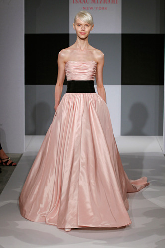 weddingsby2:  Isaac Mizrahi blush bridal gown for Kleinfeld