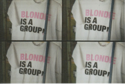 """Blondie is a group!""   t-shirt in a Berlin artist-building / Lomography #2012"
