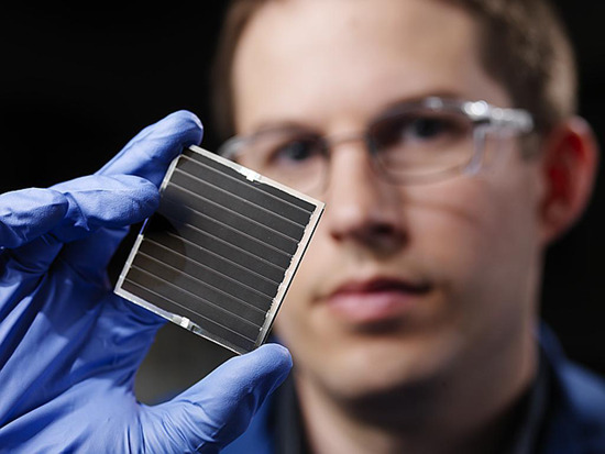 Researchers Craft Stable Dye-Sensitized Solar Cell  Generic solar cells are made with a significant amount of silicon. Unfortunately, silicon can be pretty scarce, expensive and toxic. So a variation was made by replacing the silicon with the semiconductor titanium oxide in a dye-sensitized solar cell. This is referred to asa Grätzel solar cell. Even more unfortunately, these can leak and tend to have a short shelf life. But a team at Northwestern University may have solved all that by developing a stable version of the . The traditional Grätzel design includes an electrolyte made from an organic liquid that can leak and corrode the cell. In order to prevent leaks, the group at Northwestern simply limited the liquid aspect of the design. A combination of cesium, tin, and iodine is added to the dye-coated particles in liquid form but then solidifies. Traditional silicon-based solar cells have a conversion rate around 20 percent of the light they take in while the regular Grätzel design converts near 11 or 12 percent. Improvements on the Grätzel have been slow to development due to the leaking problem. Northwestern's version was shown to convert at 10.2 percent but leaves open the possibility of major improvements now that the solid won't spoil the cell over time. Even if the efficiency fails to be significantly improved, the lower costs and increased durability provided by the new design might win the day and see commercialization. If so, it could mean an increase in cheap, sustainable energy. via electricpower: Gizmag via Engadget, image credit via PNNL – Pacific Northwest National Laboratory Geekosystem