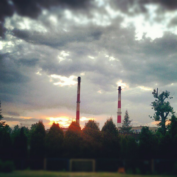 Industrial sunset  (Taken with instagram)