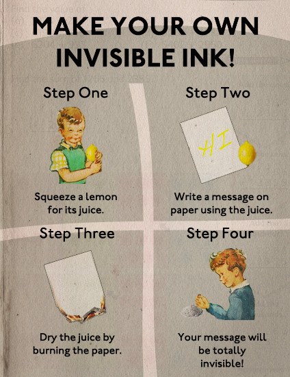 Make Your Own Invisible Ink
