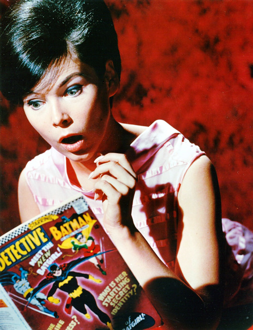Yvonne Craig. Two Batgirls.